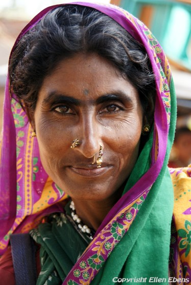 Woman at the village of Badami