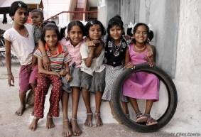 Girls having fun at the village of Badami