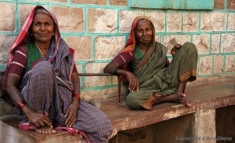 Old ladies at the village of Badami