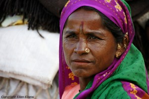 Woman in the town of Hampi