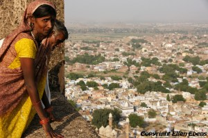 Looking out over Gwalior from the fort