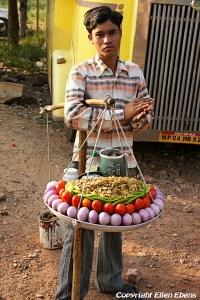 A street vendor at Gwalior