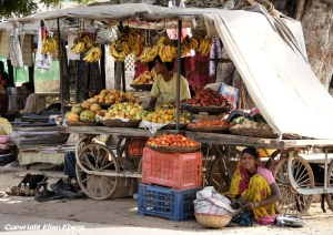 A street vendor somewhere in India