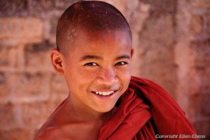 Young monk in the city of Pindaya
