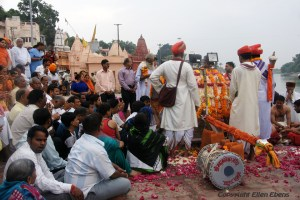 Ceremony at the ghats of the river in the centre of the city of Ujjain