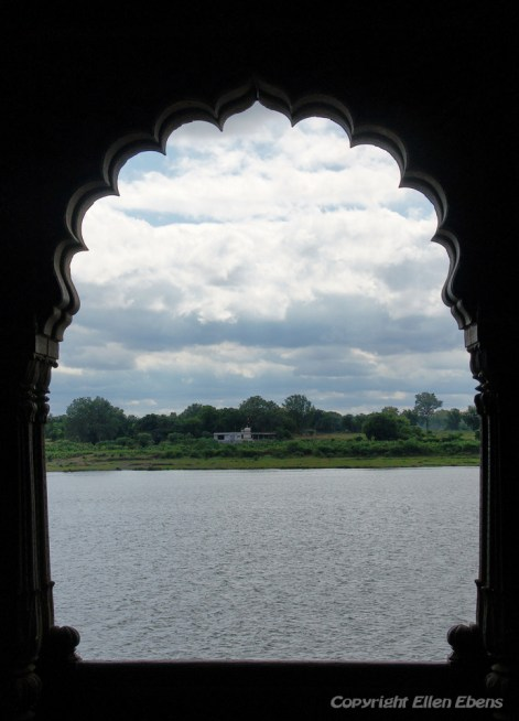 View from Inside the Palace Fort of the city of Maneshwar on the river