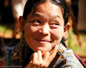 Woman at the five day market of Khaung Daing, Inle Lake