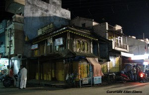Street life in the evening in the city of Maneshwar