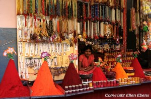 Colourful little shop In this shop in the city of Omkareswar
