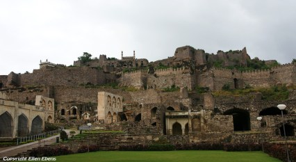 Golconda fort near the city of Hyderabad