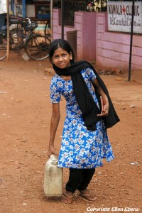 A girl in a little village somewhere in Central India