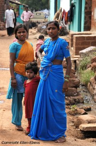 Women in a little village in Central India