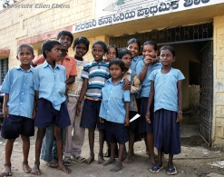 Children, some in school uniform