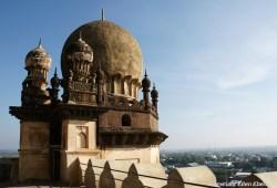 The Gol Gumbaz, the mausoleum of a former Sultan of Bijapur at the city of Bijapur.