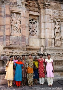 Women on a day out at the temple complex of Pattadakal