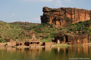 A temple in the lake of Badami