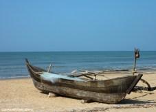 Fishing boat at the beach of Gokarna