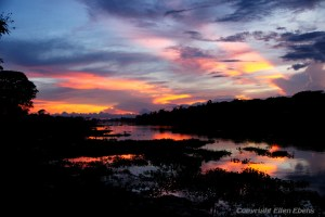 On the road from Kyaikto to Bago: a beautiful sunset