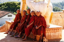 Young monks in a monastery at Pindaya