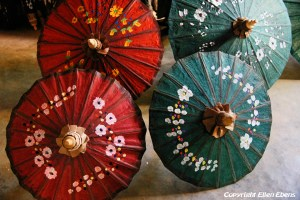 Pindaya, paper umbrellas for sale