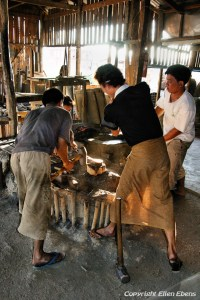 Inle Lake, the blacksmith at work