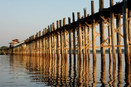 Amarapura, the famous U Bein Bridge in the late afternoon