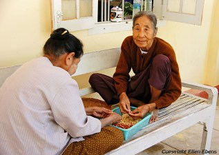 Mingun, two female residents of the Daw Oo Zoon home for the elderly