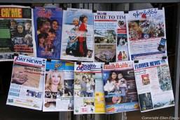 Maymyo, kiosk with magazines