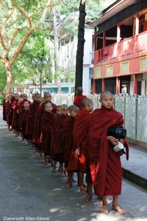 Amarapura, at the Mahagandayon Kyaung Monastery