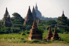Stupas at the ancient city of Bagan