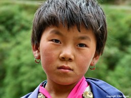 Bhutan portrait girl