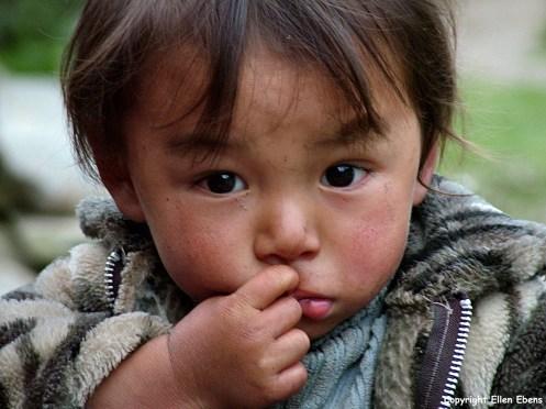 Bhutan portrait little girl