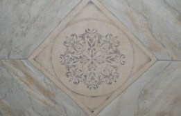 Marble barrel ceiling painted by Ellen Leigh