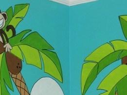 Cartoon Monkeys Wall Mural