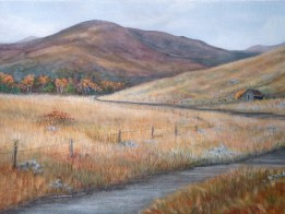 Colorado landscape paintingTrough Road Detour by Ellen Leigh