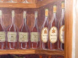 wine tasting room decor mural by Ellen Leigh
