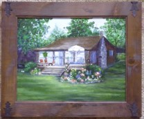 Ore Lake Cottage- 11 x 14 house portrait by Ellen Leigh