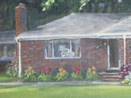 Rowan House 11 x 14 house portraits fine art painting by Ellen Leigh