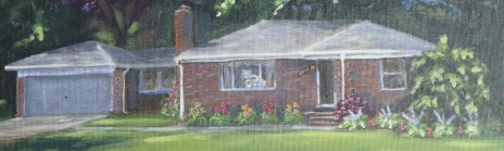 Rowan House 11 x 14 house portraits fine art painting by Ellen Leigh