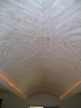 Marble and Medallions on Barrel Ceiling by Ellen Leigh