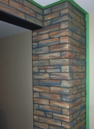 Stacked Stone on columns and header by Ellen Leigh