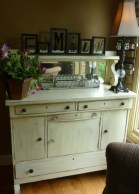 Sideboard, painted, distressed and glazed by Ellen Leigh