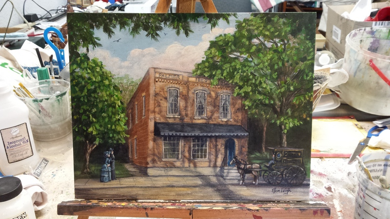 Art Walk~ painting the history of The Palmer Block
