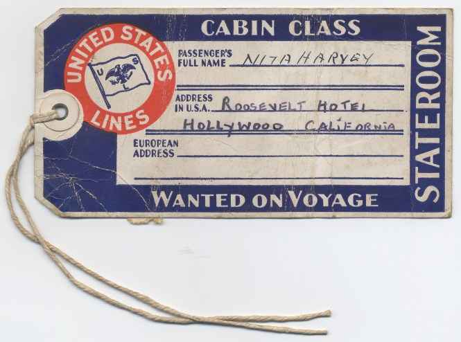 Luggage label for boat