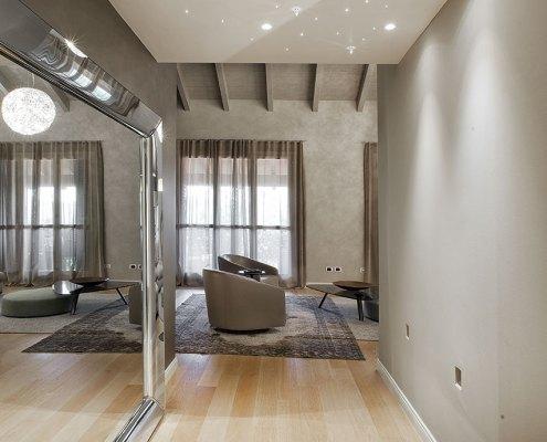 Total design in mansarda - Corridoio