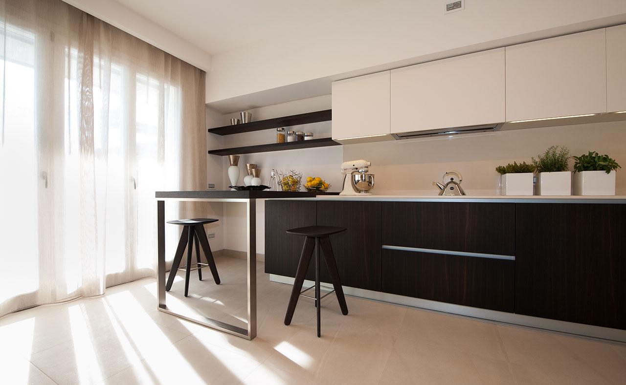 Attico Con Giardino Pensile Cucina Ellepi Interior Design