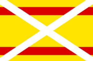 Bandera Autonomista enarbolada en Baire el 24 de febrero de 1895
