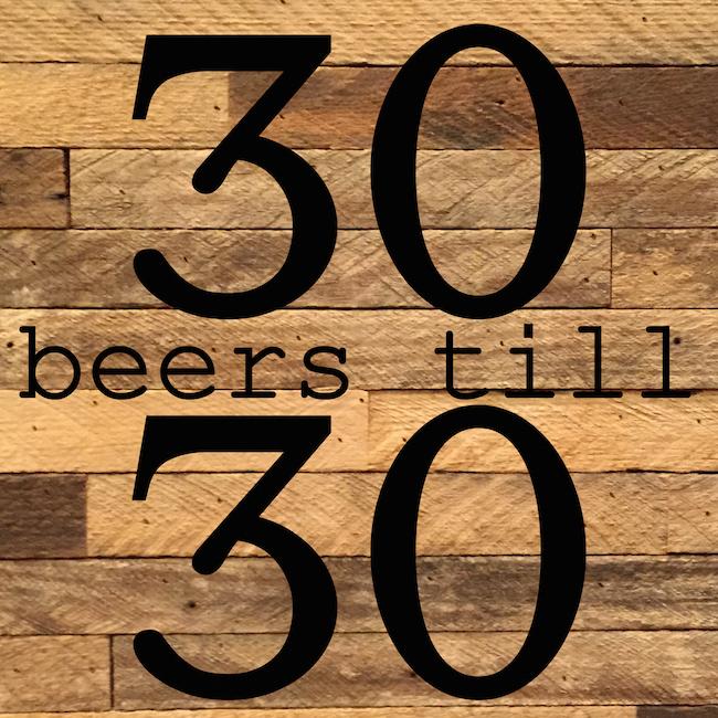 #30beerstill30