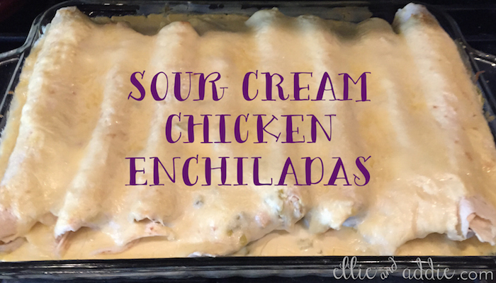 Sour Cream Chicken Enchilada Recipe | Ellie And Addie