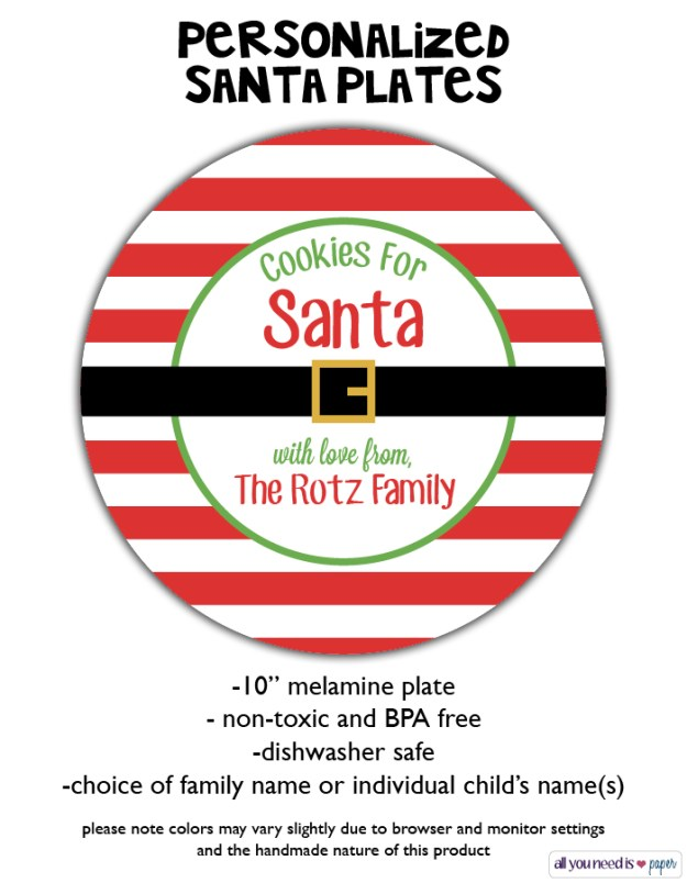Santa Plates | Ellie And Addie